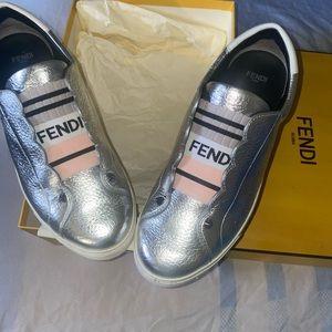 Silver Fendi Sneakers